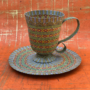 Green and Orange Paper Cup