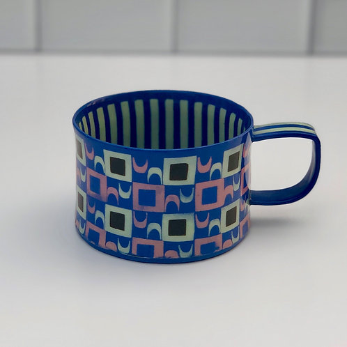 Cubes and Stripes Coffee/Tea Cup