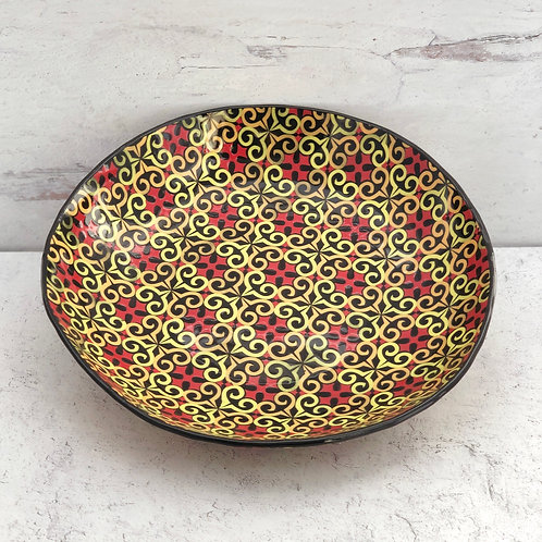 """Black and Yellow 10"""" Serving Bowl"""