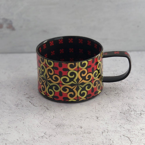 Black and Scarlet 8 oz. Coffee/Tea Cup