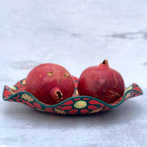 """Red Ruffle 11"""" Serving Bowl"""