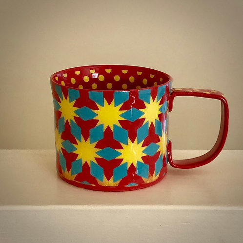 12 oz. Orange Yellow Starburst Mug