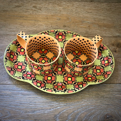 Coffee Tray with 2 Cups