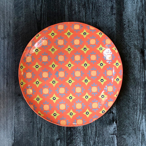 "Orange and Blue  13"" Serving Platter"