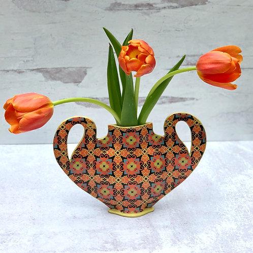 Multicolored Flat Vase