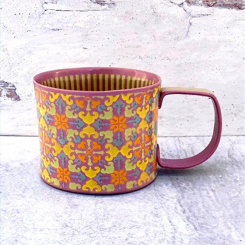 Violet and Yellow 12 oz. Mug