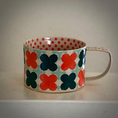 8 oz. Mango and White Coffee/tea Cup