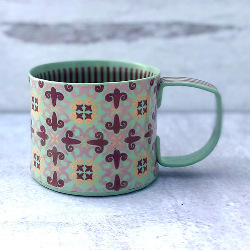 Mint and Violet 12 oz. Cup
