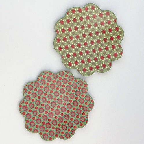 Set of 2 Flower Cookie Plates