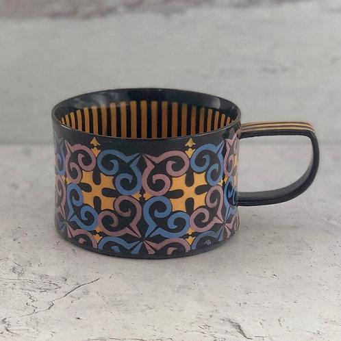 Black and Saffron 8 oz. Coffee/Tea Cup