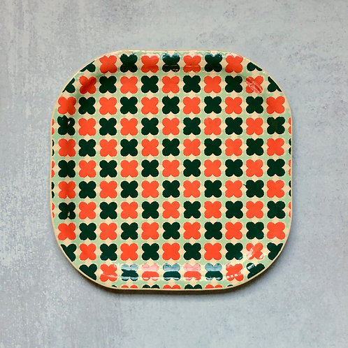 Square 12 inch Checkerboard Platter