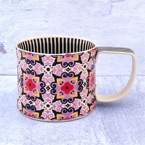 Violet Curlicue 12 oz. Mug