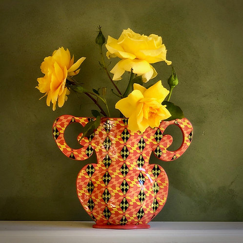Mango and Yellow Joker Vase