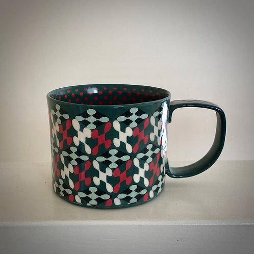 12 oz. Jade and Red Mug