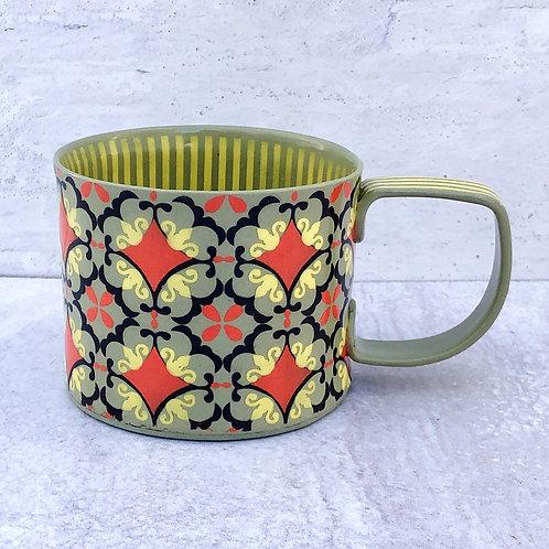 Gray and Yellow 12 oz. Mug