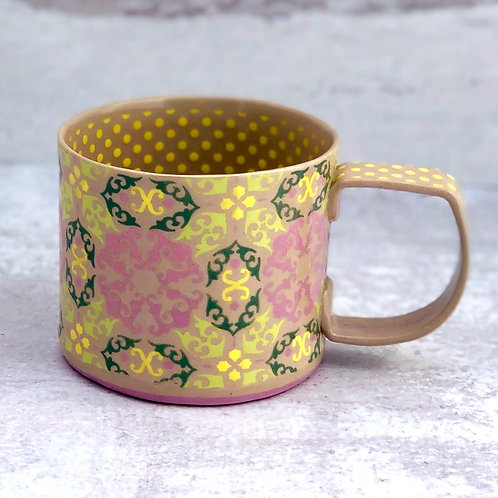 Gray and Violet 12 oz. Cup