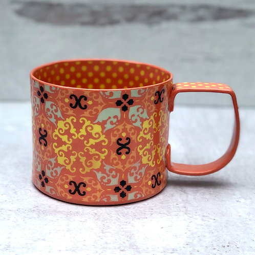 Tangerine and Yellow 12 oz. Cup
