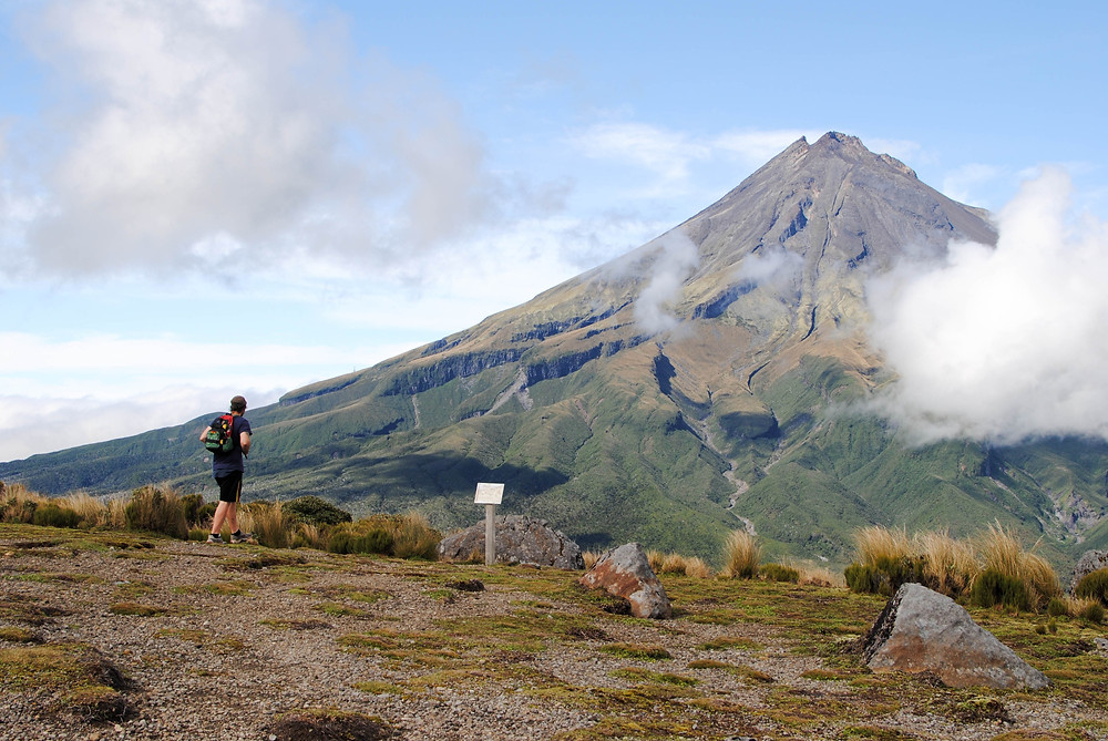 hiking Mt Taranaki New Zealand