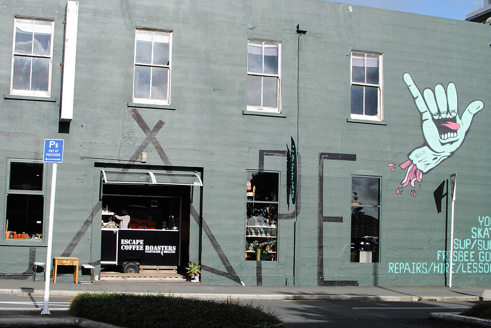 street art new plymouth coffee shop