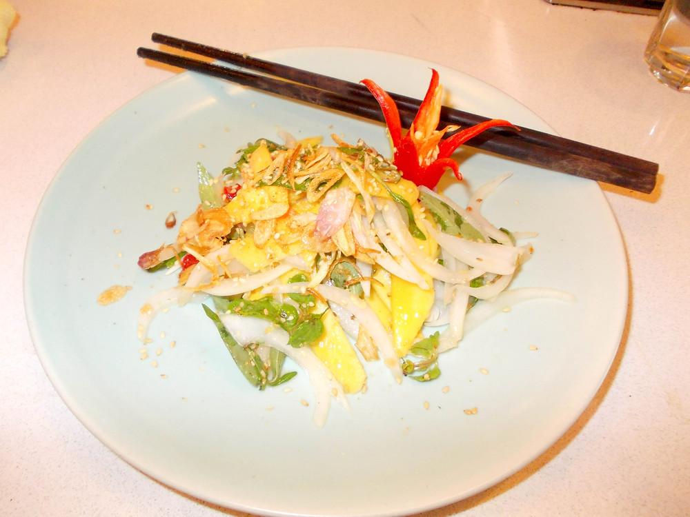 Sour mango salad dish vietnamese
