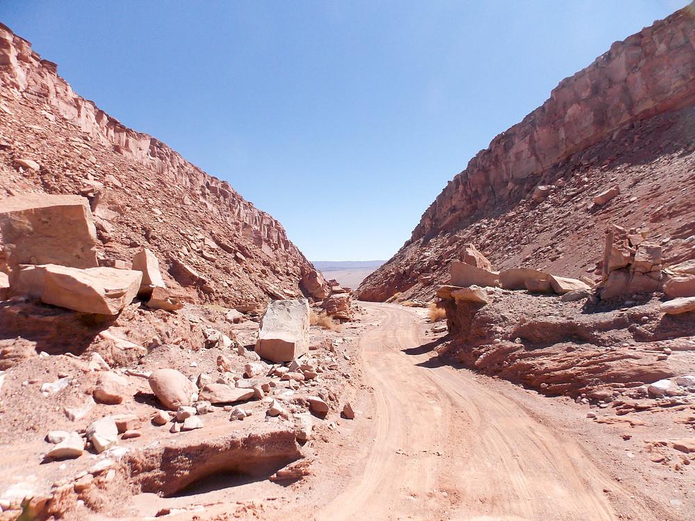 road atacama desert