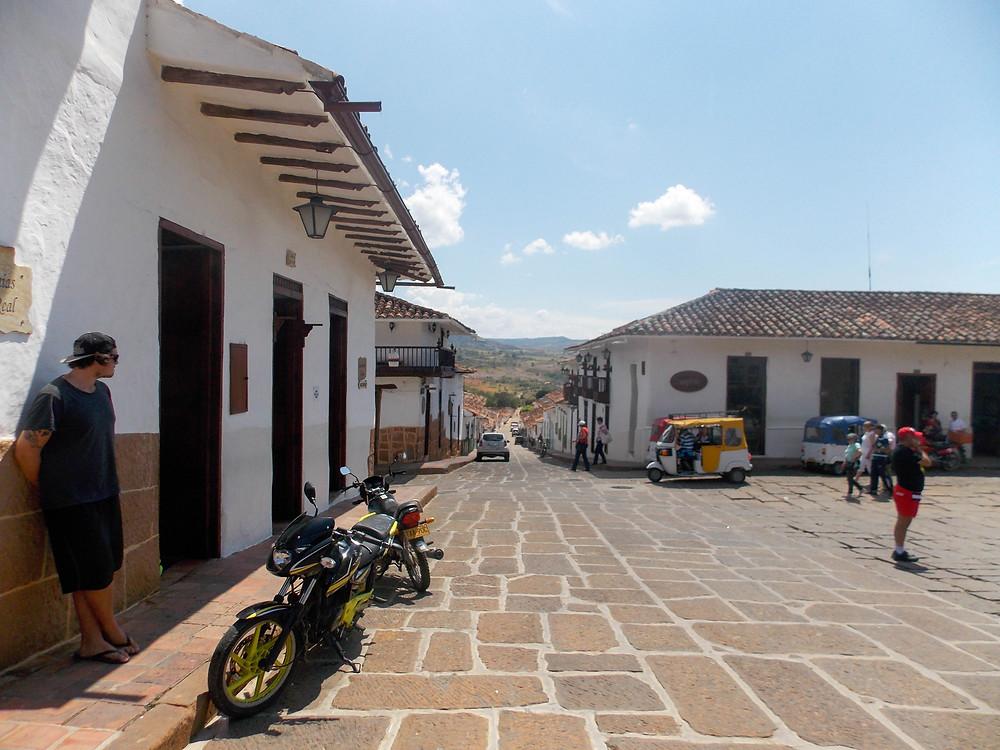 central plaza Barichara colombia