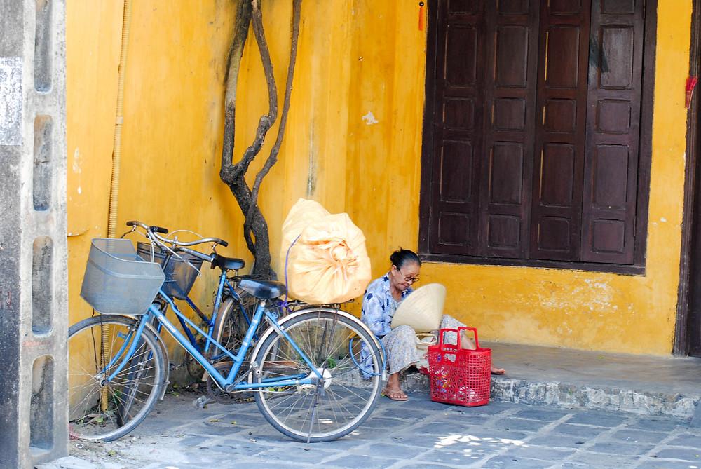 Hoi An vietnam woman bicycle