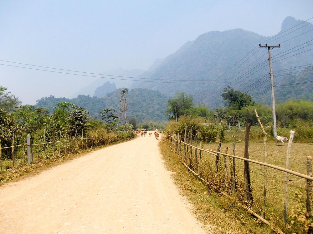 rural laos vang vieng