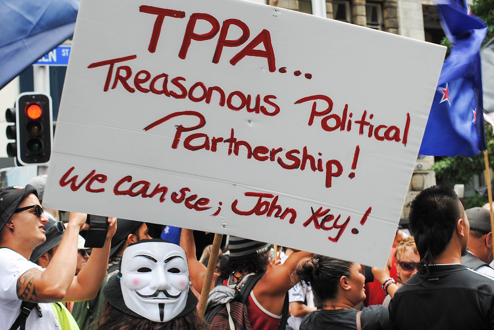 tppa protest auckland