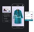 Boutique en ligne de la maque Luxe qui affiche une boîte d'abonnement, une vitrine mobile et plusieurs moyens de paiements de Wix Payments.