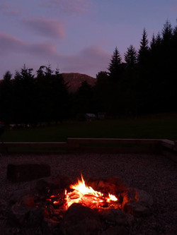 Campfire at the end of the day