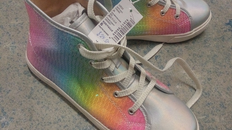 New Girl Rainbow Shoes