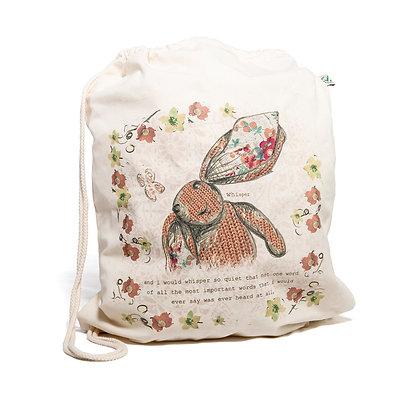 little rabbit drawstring bag