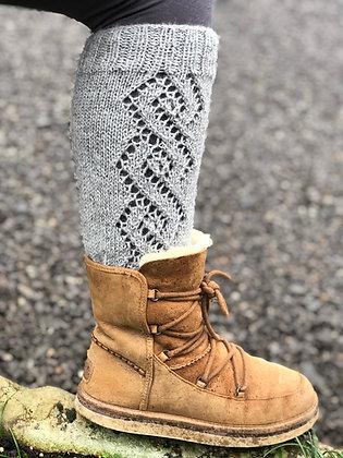 hand knitted alpaca leg warmers