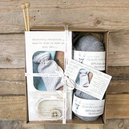 hot water bottle cover knitting kit