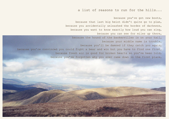 a list of reasons to run for the hills...