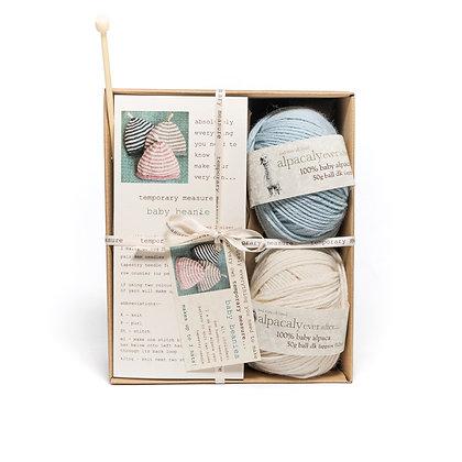 baby beanie knitting kit