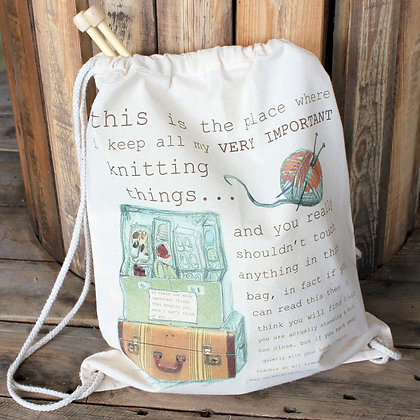 temporary measure knitting bag
