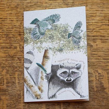 tricksy racoon lovely little notebook