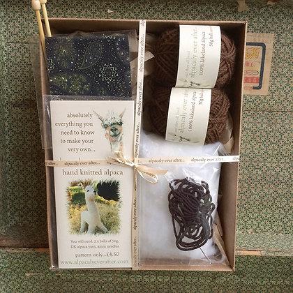 alpaca knitting kit