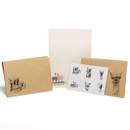 alpaca letter writing set