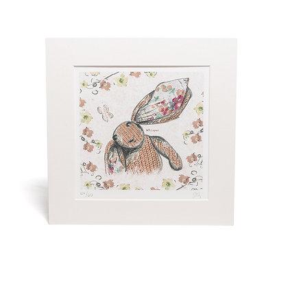 little rabbit mounted giclée print