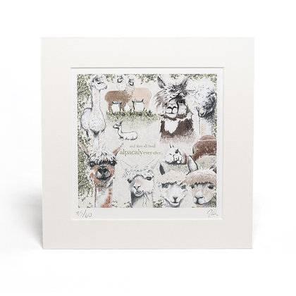 alpacaly ever after mounted giclée print
