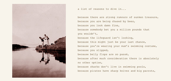 a list of reasons to dive in...