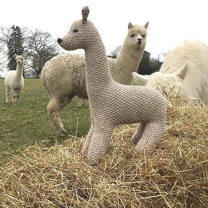 hand knitted alpaca