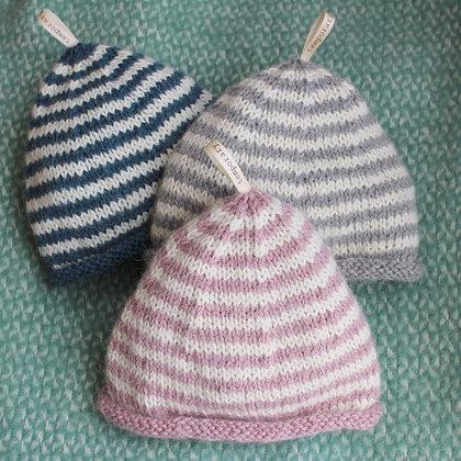 hand knitted baby alpaca baby beanie