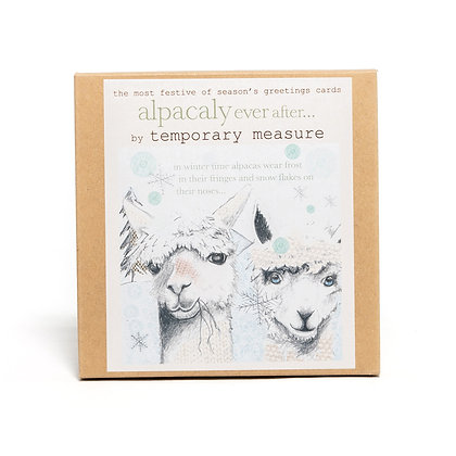 alpacaly ever after festive greetings card pack