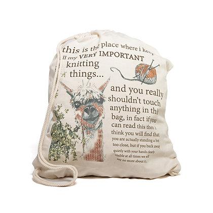 alpaca knitting bag