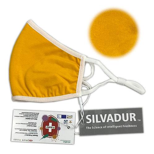 Mascarilla Antibacterial Silvadur | GOLDEN ROSE PLANET / INFANTIL / TELA / COLOR AMARILLO / LISA