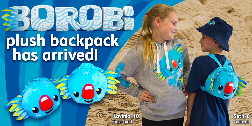 Borobi Plush Backpack twitter